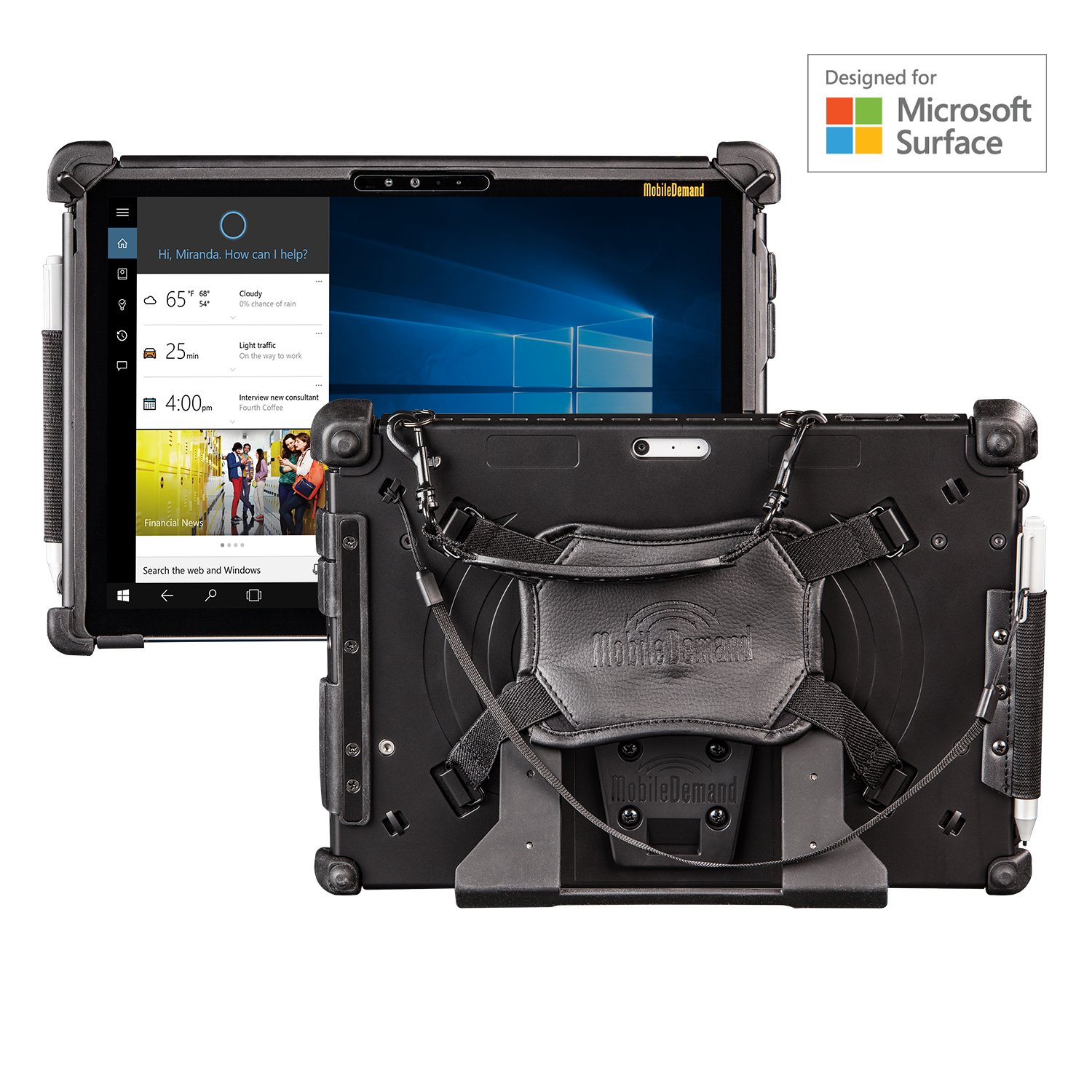 MobileDemand Microsoft Surface Pro 4 / 2017 Premium Rugged Case [BLACK] Military Drop Tested Case