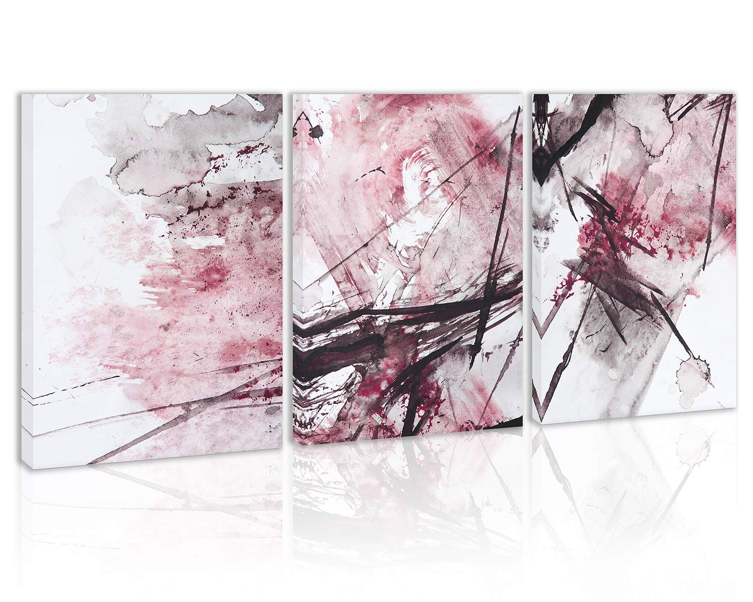 Modern Abstract Wall Art Decor Pink Black and White Canvas Painting Kitchen Prints Pictures for Home Living Dining Room