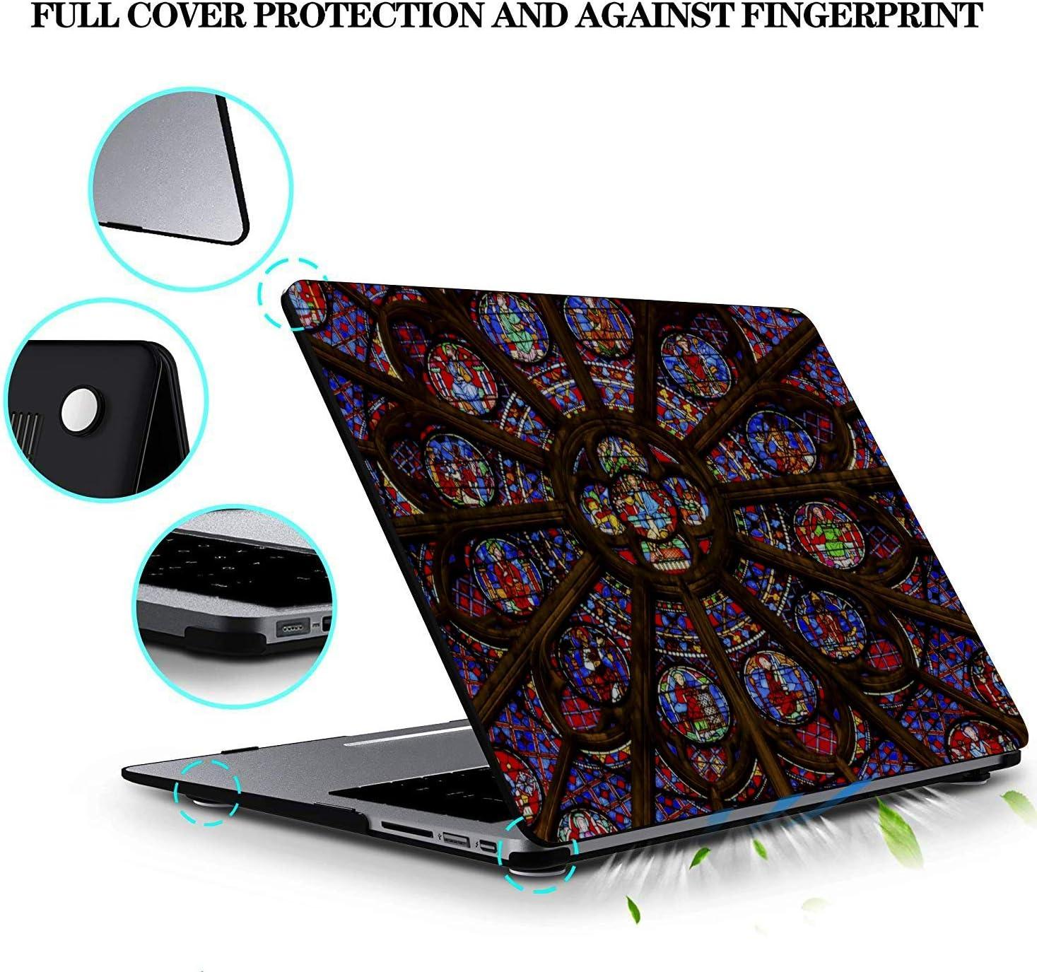 MacBook Accessories 13 Inch Rose Window Notre Dame De Paris Plastic Hard Shell Compatible Mac Air 11 Pro 13 15 Laptop Cover Case Protection for MacBook 2016-2019 Version