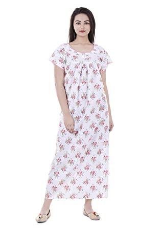 cfbc61df7c Women Cotton Nighty, Gown, Sleepwear, Nightwear, Maxi - Soft and Stylish  Night