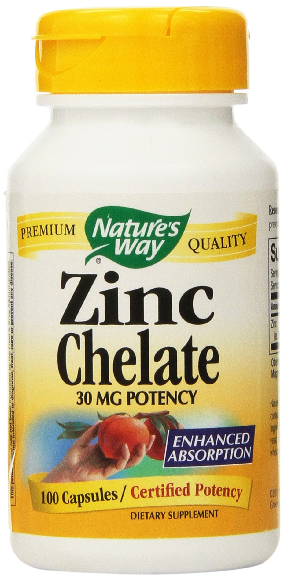 Zinc Chelate 30mg, 100 Count (Pack of 2)