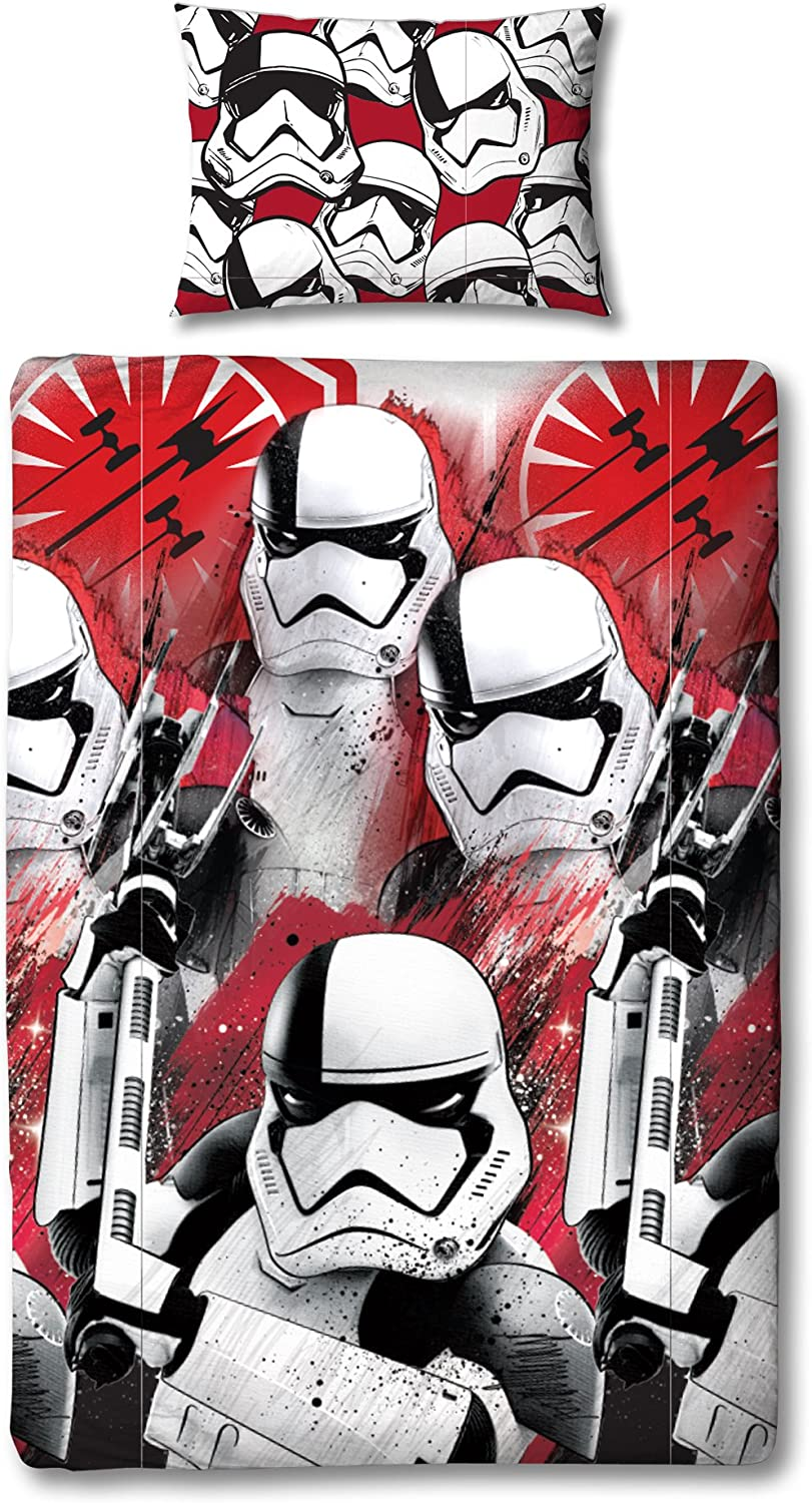 Star Wars Duvet Cover with Matching Pillow Case-Two Sided Reversible Episode 8