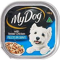 MY DOG Dog Wet Food, Tender Chicken Fillets in Gravy, 100g x 6, Adult, Small/Medium