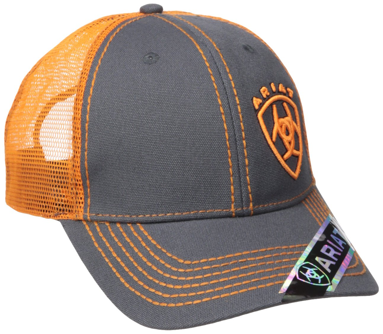Ariat Men's Clean Orange Corner Logo, Orange/Gray, One Size
