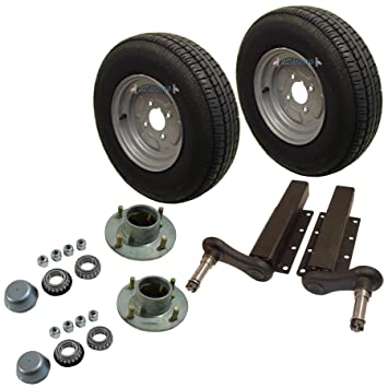 AB Tools-Maypole 750kg Unidades de Suspensión de Remolque neumáticos Ruedas de 145 x 10