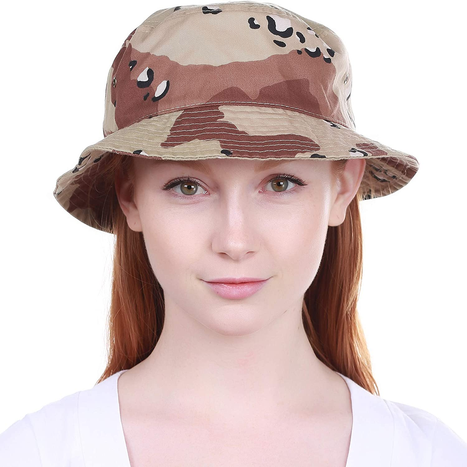 895d342d16451 KBETHOS Unisex 100% Washed Cotton Bucket Hat Summer Outdoor Cap at Amazon  Men s Clothing store