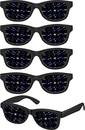 Trippy Kaleidoscope Glasses Rave Festival Sunglasses Diffracted Lens Party