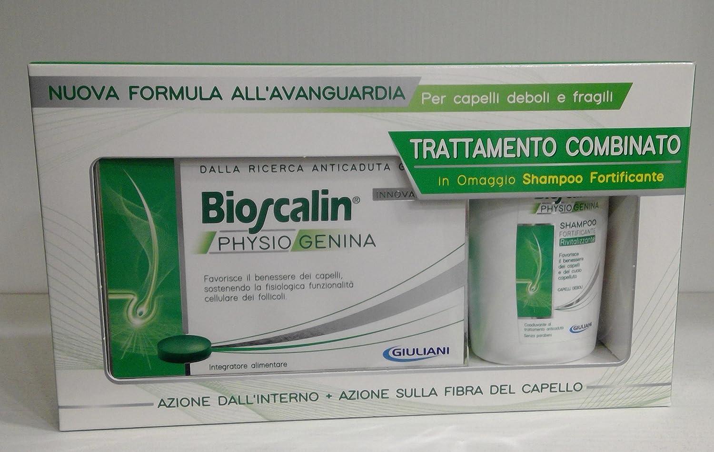 Tratamiento anticaída para hombre (30 comprimidos) + champú de 100 ml Bioscalin Physiogenina: Amazon.es: Salud y cuidado personal
