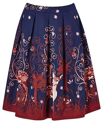 4722080dec41 Joe Browns - Femme - Jupe plissée à imprimé animal  Amazon.fr ...