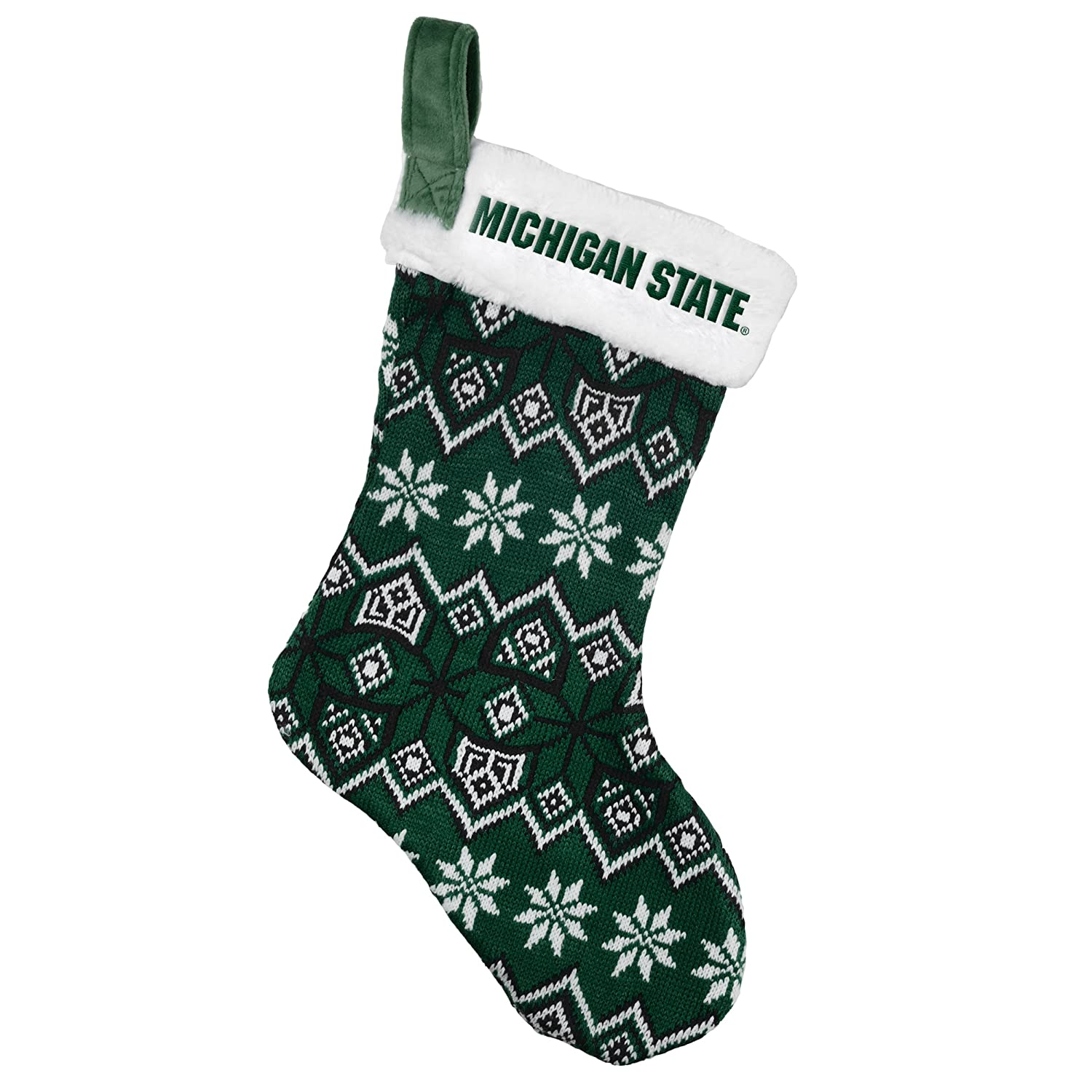 Amazon Michigan State Spartans Knit Holiday Stocking 2015