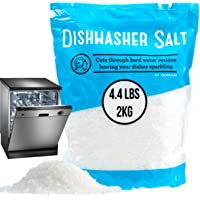 4.4 LB Dishwasher Salt/Water Softener Salt - Compatible with Bosch, Miele, Whirlpool, Thermador and More (2 KG)