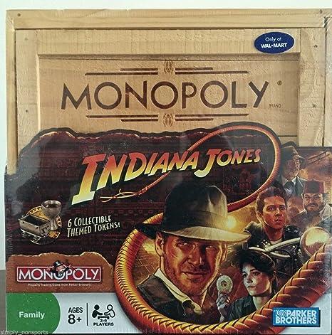 New Indiana Jones Monopolio juego de mesa coleccionistas edición madera crear caja, # g14e6ge4r-ge 4-tew6 W291038: Amazon.es: Juguetes y juegos