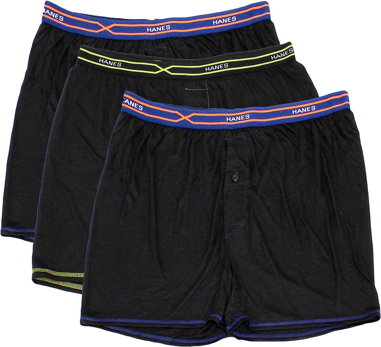 Select SZ//Color. Hanes Mens 3-Pack X-Temp Lightweight Boxer L