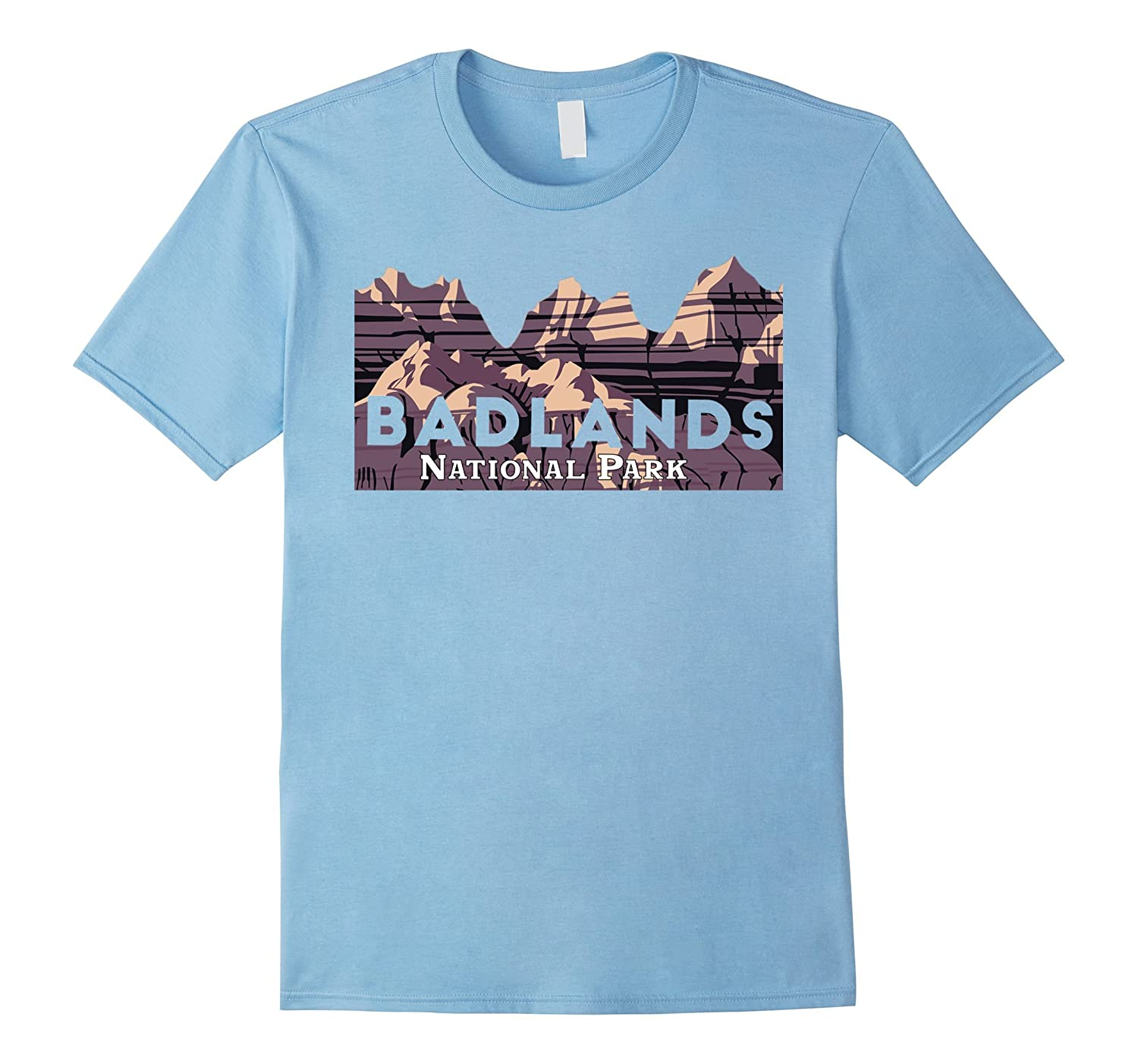 33c060cac5345 Badlands National Park Travel Journey Explore Earth T-Shirt-ANZ