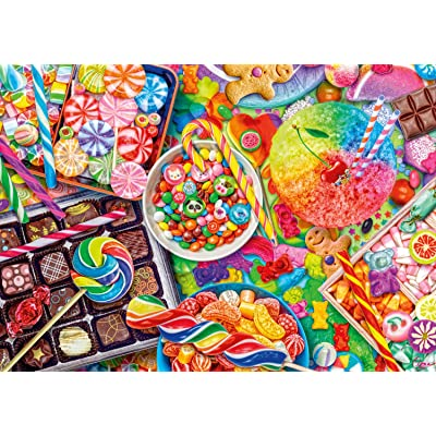 Buffalo Games - Aimee Stewart - Candylicious - 300 Large Piece Jigsaw Puzzle, Multi: Toys & Games