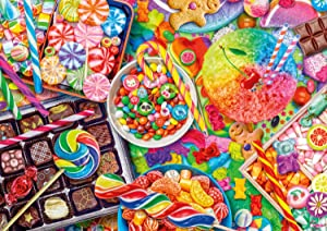 Buffalo Games - Aimee Stewart - Candylicious - 300 LARGE Piece Jigsaw Puzzle