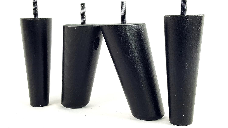 Knightsbrandnu2u 4x Ersatz Möbel Beine Massiv Holz Füße–Sofas, Stühle, Sofas, Hockern–M8(8mm) tsp2117_ shn201 schwarz