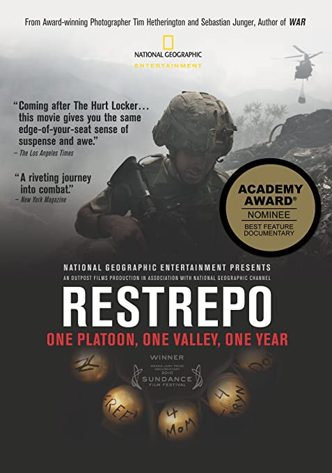 Front cover for the book Restrepo by Sebastian Junger