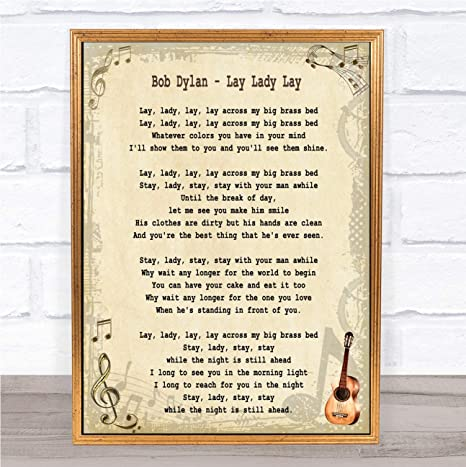 Amazoncom Lay Lady Lay Song Lyric Quote Print Office
