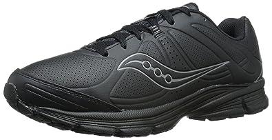 Saucony Men's Momentum Walking Sneaker,Black Leather,US ...