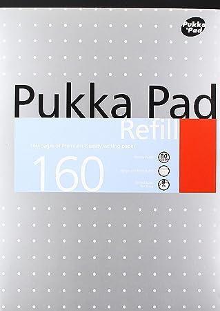 A4, 400/p/áginas Recambio escuela oficina en casa color blanco 80/gsm Pad /Cuaderno Pukka Pads/
