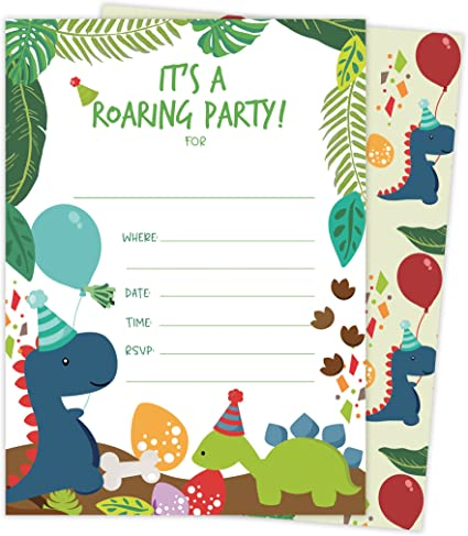 With Envelopes Option Thank You Cards and Envelopes option Jungle Animals Birthday Party Invites Pack of 20 Cards Boy Girl Kids Childrens Invites Only Invites