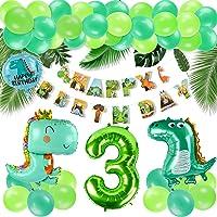 KATELUO Jungle Party Decoratie, jungle verjaardag decoraties jongen, folieballonnen dinosaurussen, alles goed voor…