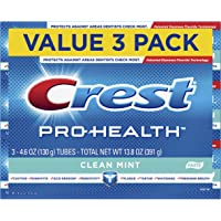 Crest Pro-Health Smooth Formula Toothpaste, Clean Mint, 4.6 oz, 3 Count (Packaging May Vary) 1 SET
