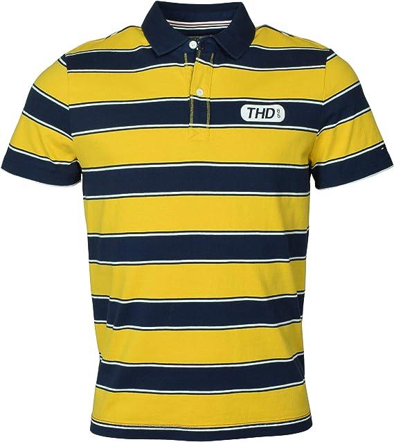 Tommy Hilfiger Denim Men's Striped Logo Polo