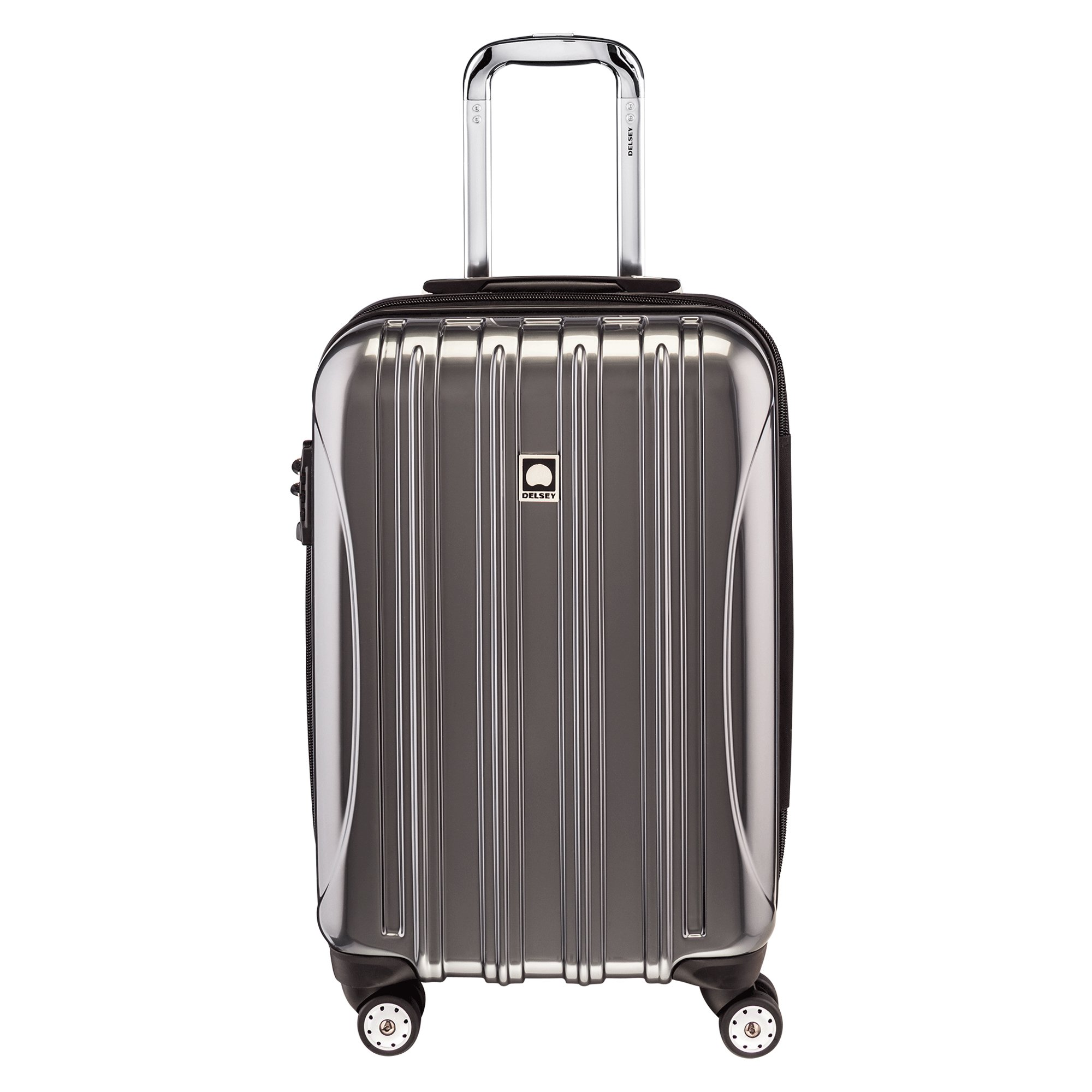 Delsey Luggage Helium Aero Carry-On Spinner Trolley, Titanium, One Size