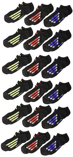 8f3e6672eb Amazon.com : adidas Kids' - Boys/Girls Cushioned No Show Socks (6 ...