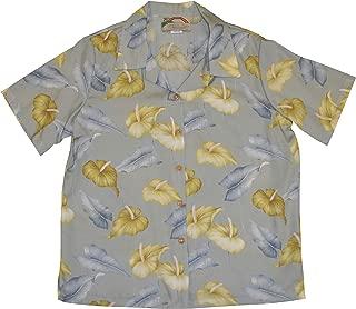 product image for Paradise Found Women's Anthurium Garden Aloha Shirt, Silver, XXL