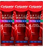 Colgate Optic White Renewal Teeth Whitening Toothpaste, High Impact White - 3 Ounce (3 Pack)