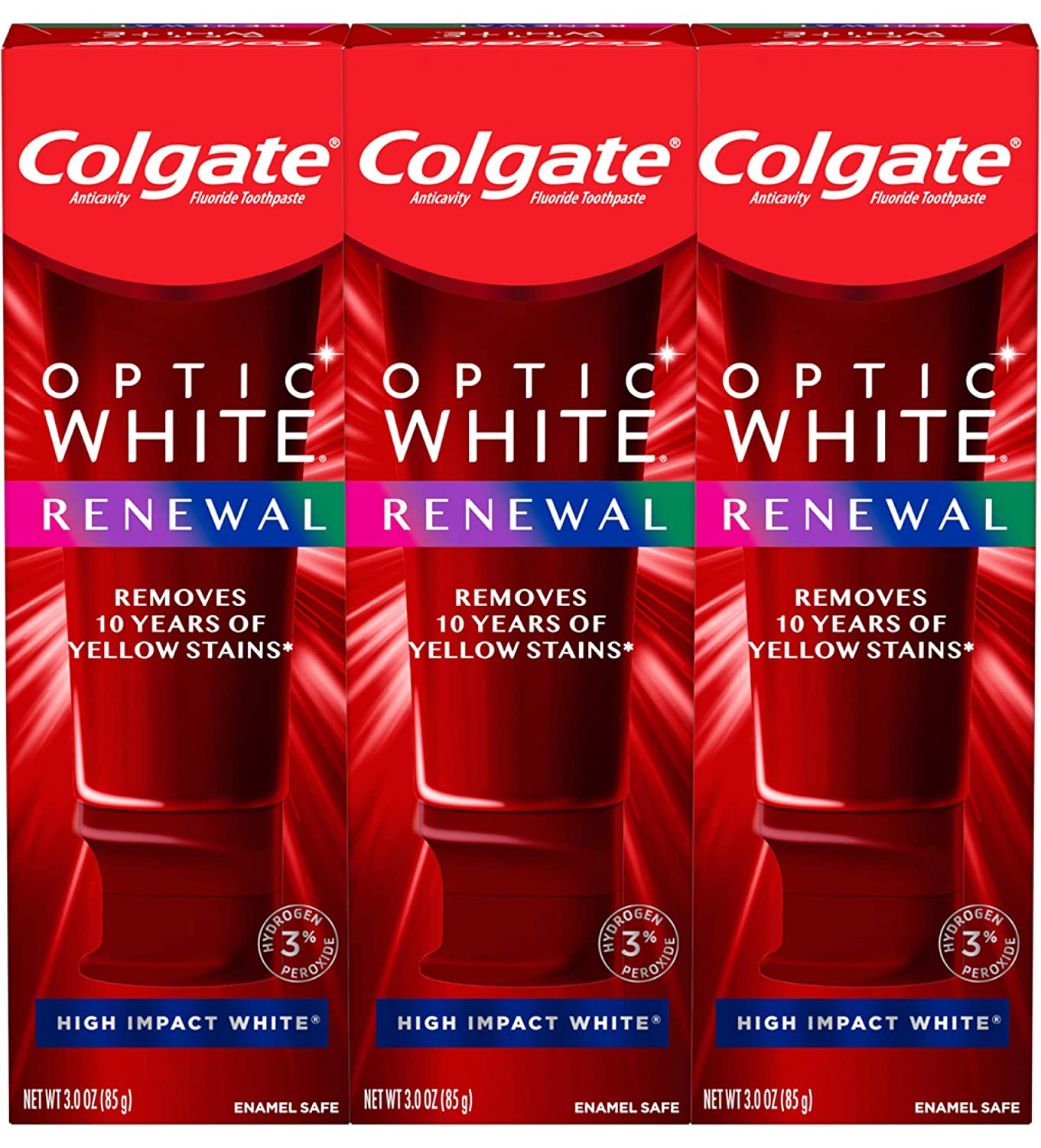 Amazon Com Colgate Optic White Renewal Teeth Whitening Toothpaste