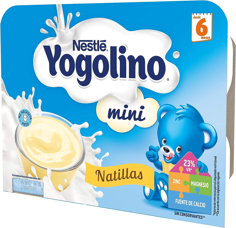 Nestlé Yogolino Postre lácteo Mini Natillas, para bebés a partir ...