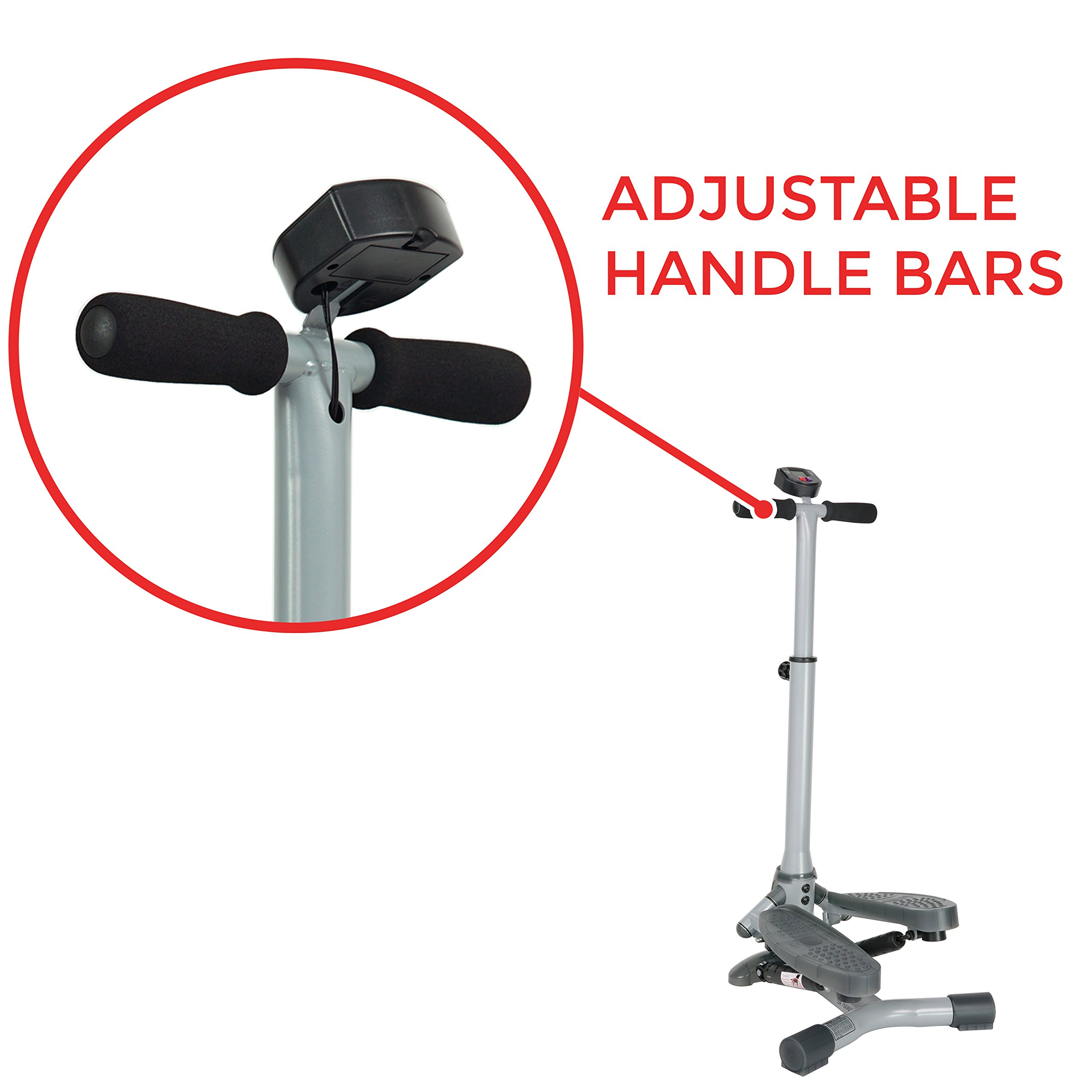 Sunny Health & Fitness SF-S0637 Twist-In Stepper Step Machine w/ Handlebar and LCD Monitor by Sunny Health & Fitness (Image #5)