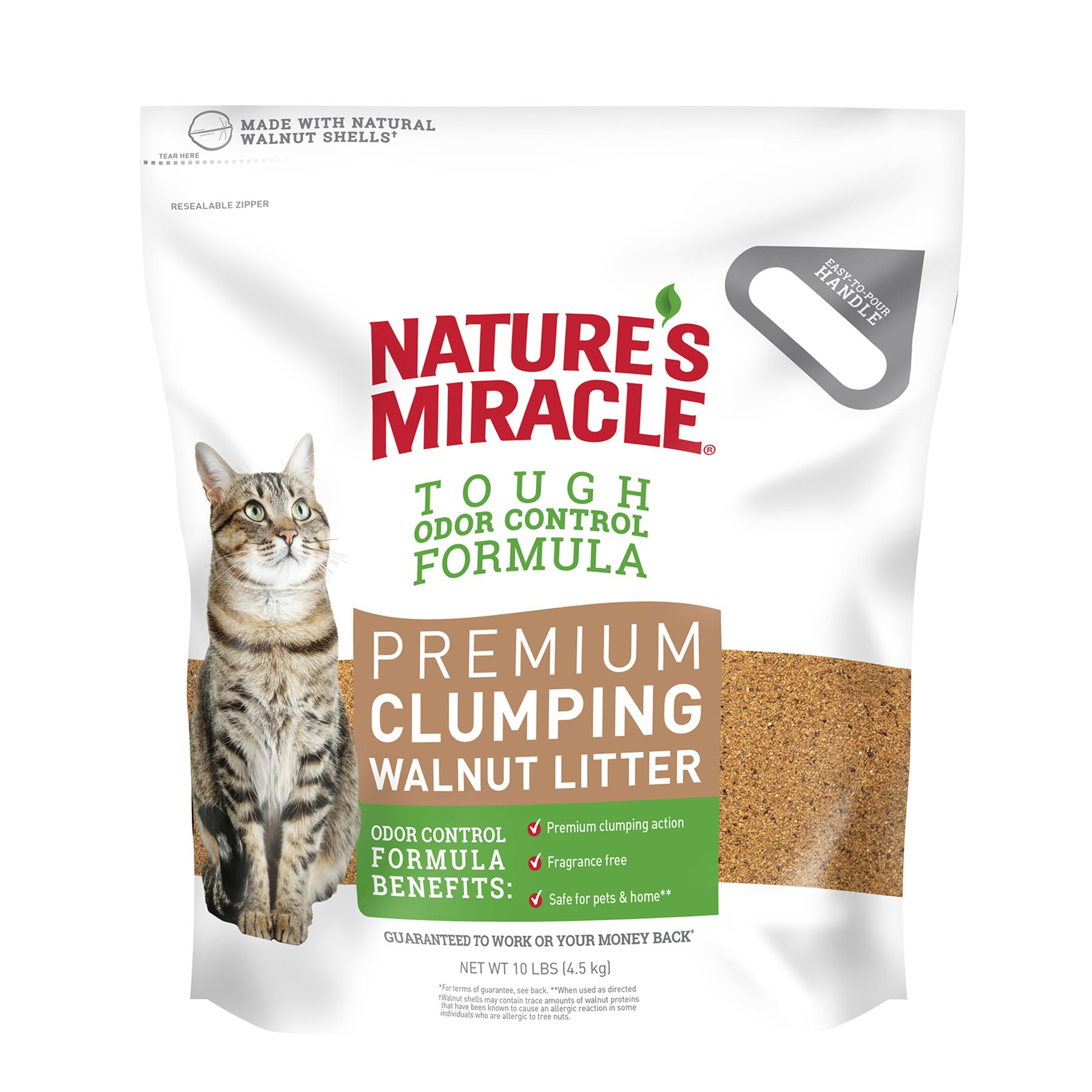 Nature's Miracle Premium Walnut Clumping Litter, 10 lb