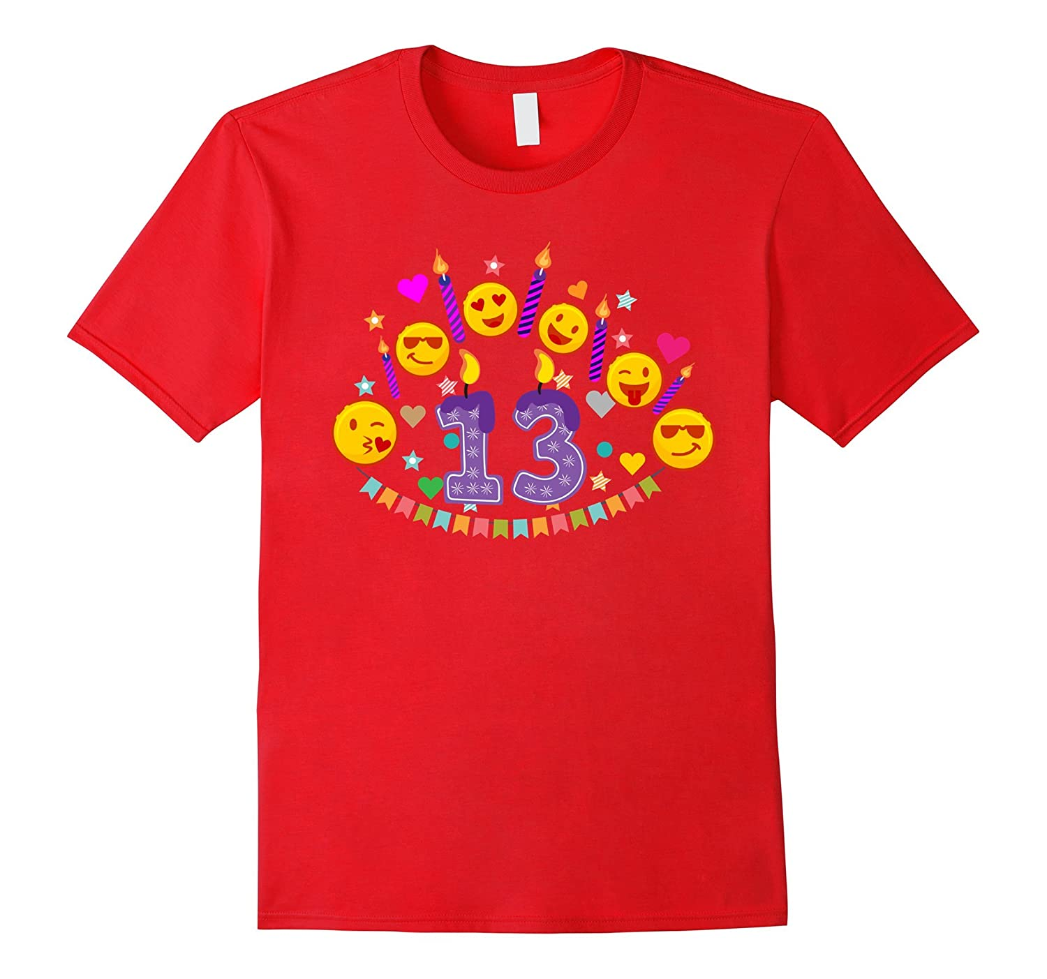 13th Birthday Emoji T-Shirt for 13 Year Old Awesome Teens-CD