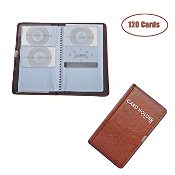 Leather business card book image collections business card template amazon high class pu leather business card book holder name high class pu leather business card colourmoves