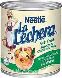 Nestle La Lechera Fat Free Sweetened Condensed Milk, 14 oz