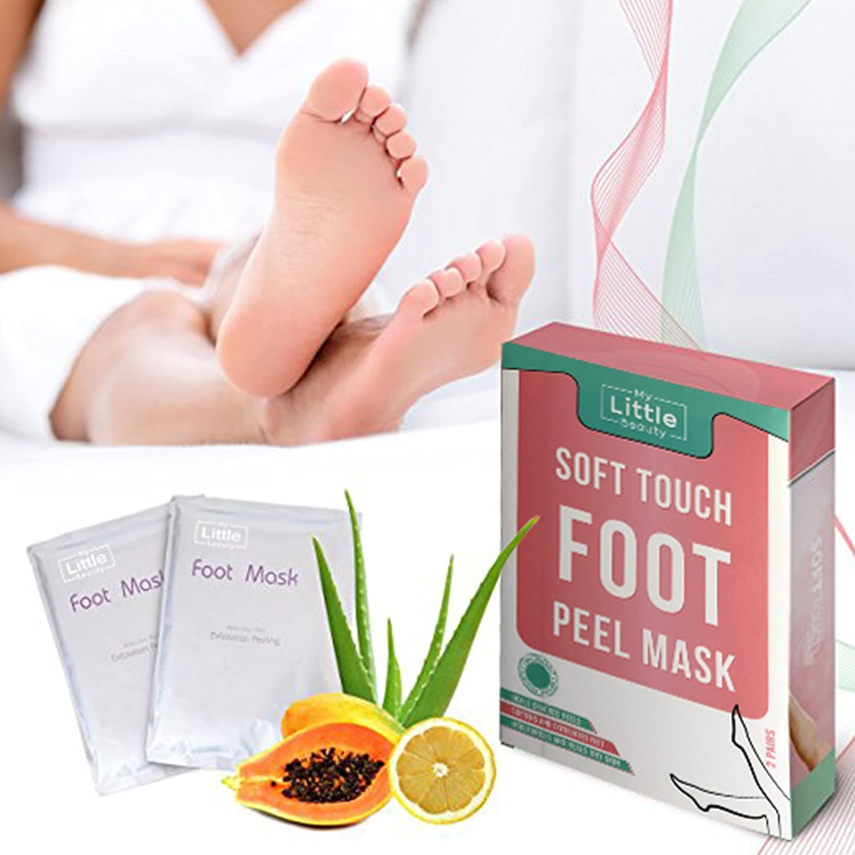 Foot Peel Mask - MY LITTLE BEAUTY - Exfoliating Foot Mask for Dry Skin (2 Pairs per Box) RLSDXYZ16207