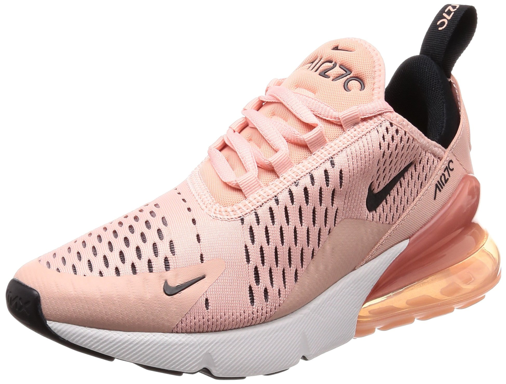 promo code 91d5f a18ce Nike Women's WMNS Air Max 270, Coral Stardust/Black-Summit White, 7 M US