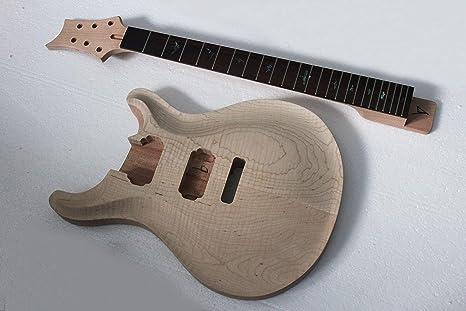 Kit de guitarra eléctrica de marca Musoo con tapa de arce de llama ...