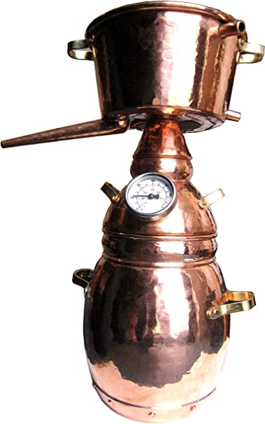 Destille 10-Liter Alquitara mit Thermometer zur Herstellung ätherischer Öle