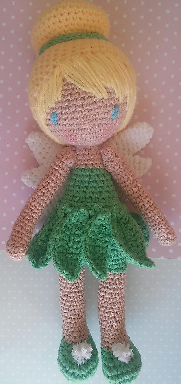Muñeca Mariquilla Campanilla a crochet. Amigurumis.: Amazon.es: Handmade
