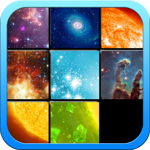 - Galaxy & Space Puzzles - Tile Sliding Game with Space, Planets, Spacecrafts Pictures and More