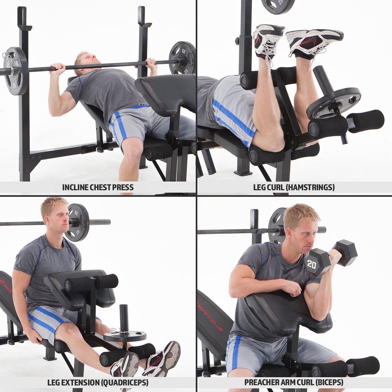 Marcy Banco de Musculación Eclipse BE5000: Amazon.es: Deportes y aire libre