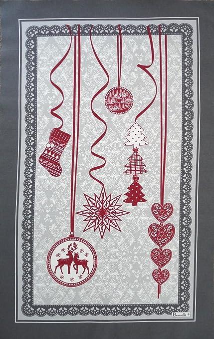 BEAUVILLE, Pampilles (vacaciones de Navidad adornos colgantes) Frost francés cocina/toalla de