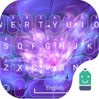 Purple Garden Theme&Emoji Keyboard