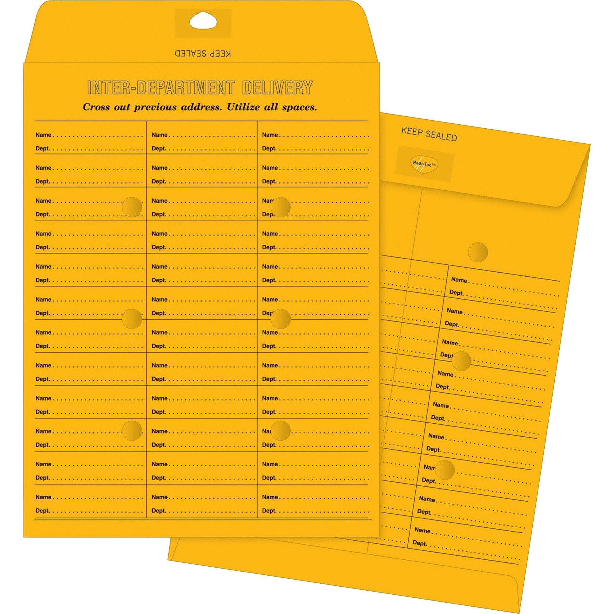 Business Source 04547 Inter-Dept Envelopes, 28 lb,Self-Seal,10x13, 100/BX, BKFT
